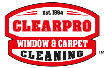 The company logo for ClearPro Window & Carpet Cleaning.